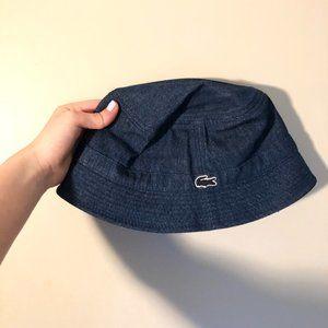 AUTHENTIC NEVER WORN Jean/Denim Lacoste Bucket Hat